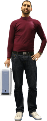 Man carrying dehumidifier