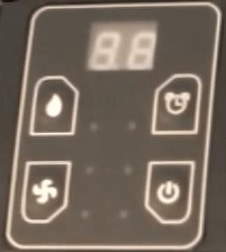 Duracraft DD-TEC16E Control Panel